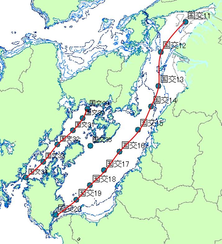 八代海における水質の観測状況 八代海における水質の観測状況 八代海における水質の鉛直観測 八代海